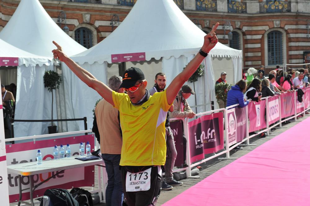 sebastien sicard marathon ligne d'arrivée marathon toulouse